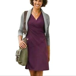 Athleta sangria Faux wrap dress